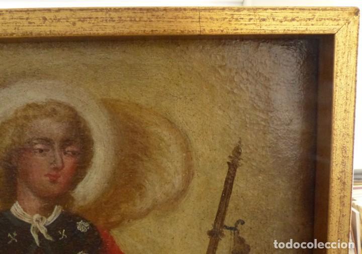 Arte: ARCANGEL SAN RAFAEL - SIGLO XVIII - CUSTODIO DE CORDOBA - 55 X 39 CM. - Foto 8 - 203218290