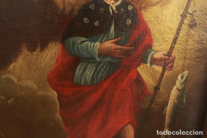 Arte: ARCANGEL SAN RAFAEL - SIGLO XVIII - CUSTODIO DE CORDOBA - 55 X 39 CM. - Foto 11 - 203218290