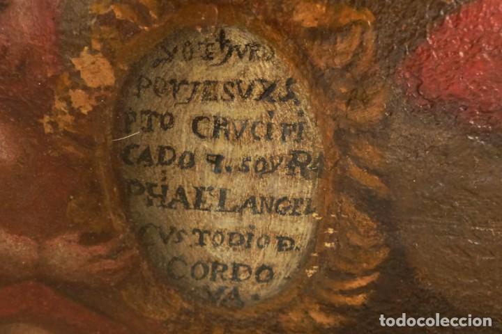 Arte: ARCANGEL SAN RAFAEL - SIGLO XVIII - CUSTODIO DE CORDOBA - 55 X 39 CM. - Foto 14 - 203218290