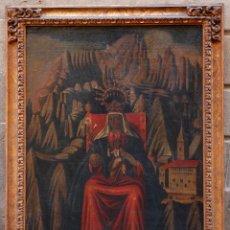 Arte: VIRGEN DE MONTSERRAT, PINTURA AL ÓLEO SOBRE TELA, SIGLO XVIII, CON MARCO. 133X94CM. Lote 203226808