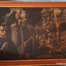 Arte: ESCUELA ESPAÑOLA S.XVII-XVIII LAS TENTACIONES DE SAN ANTON OLEO. Lote 203485395
