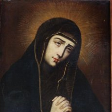 Arte: VIRGEN DOLOROSA. ÓLEO SOBRE LIENZO. ESCUELA ESPAÑOLA DEL SIGLO XVII. 65 X 52 CM.. Lote 123393479