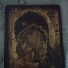 Arte: BONITO ICONO RELIGIOSO SOBRE TABLA. Lote 203594840
