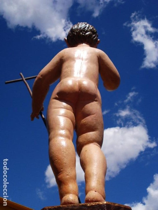 Arte: NIÑO JESUS TRIUNFANTE TALLA DE MADERA SXVIII ESCUELA CASTELLANA - Foto 4 - 129278460