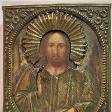 Arte: ICONO DE IMAGEN DE CRISTO COMO SALVADOR DEL MUNDO.. Lote 203841980