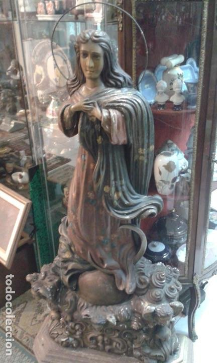 TALLA MADERA VIRGEN INMACULADA ( 1,28 CTMS) (Arte - Arte Religioso - Escultura)