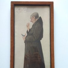 Arte: AÑO 1917. POLVOS DE LA MADRE CELESTINA. LAMINA DE MONJE, FIRMADA POR MARXUACH (CATALAN),47X23CM.. Lote 203929507