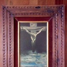 Arte: ANTIGUA REPRODUCCIÓN SALVADOR DALI, CRISTO DE SAN JUAN DE LA CRUZ. 60X45CM.. Lote 203931496