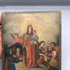 Arte: ICONO (1) - OLEO SOBRE MADERA - FINALES DEL SIGLO XVIII. Lote 203954480