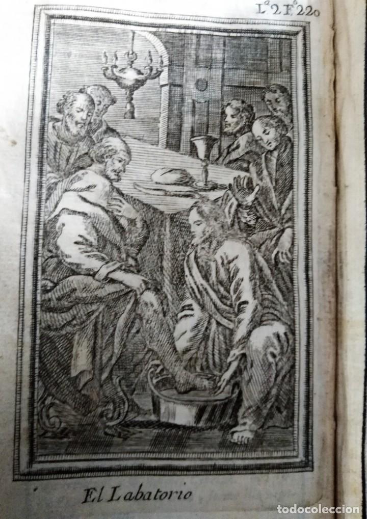 GRABADO RELIGIOSO 1768 IMAGEN SAGRADA EL LABATORIO 8 POR 16 CM (Arte - Arte Religioso - Grabados)