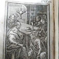 Arte: GRABADO RELIGIOSO 1768 IMAGEN SAGRADA EL LABATORIO 8 POR 16 CM. Lote 203986472