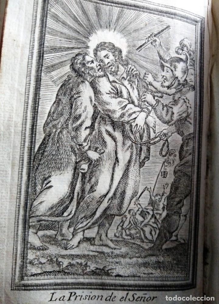 GRABADO RELIGIOSO 1768 IMAGEN SAGRADA LA PRISION DEL EL SEÑOR 8 POR 16 CM (Arte - Arte Religioso - Grabados)