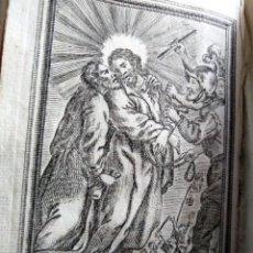Arte: GRABADO RELIGIOSO 1768 IMAGEN SAGRADA LA PRISION DEL EL SEÑOR 8 POR 16 CM. Lote 203987282