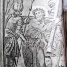Arte: GRABADO RELIGIOSO 1768 IMAGEN SAGRADA LA CRUZ A CUESTAS CRISTO JESUS 8 POR 16 CM. Lote 203987793