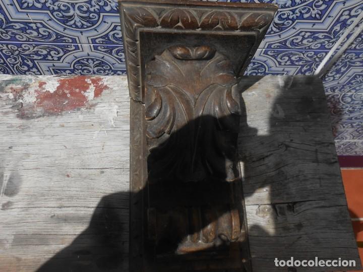 MENSULA DE MADERA TALLADA (Arte - Arte Religioso - Retablos)