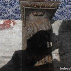 Arte: MENSULA DE MADERA TALLADA. Lote 203987930