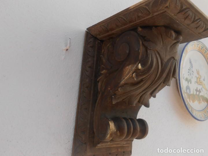 Arte: MENSULA DE MADERA TALLADA - Foto 4 - 203987930