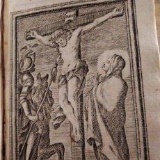 Arte: GRABADO RELIGIOSO 1768 CHRIFTO EN LA CRUZ CRISTO EN LA CRUZ 8 POR 16 CM. Lote 203988543