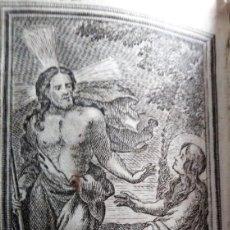 Arte: GRABADO RELIGIOSO 1768 LA APARICION DEL SEÑOR 8 POR 16 CM. Lote 203989110