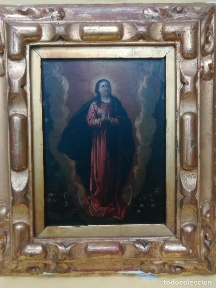 VIRGEN INMACULADA DE COBRE (Arte - Arte Religioso - Pintura Religiosa - Oleo)