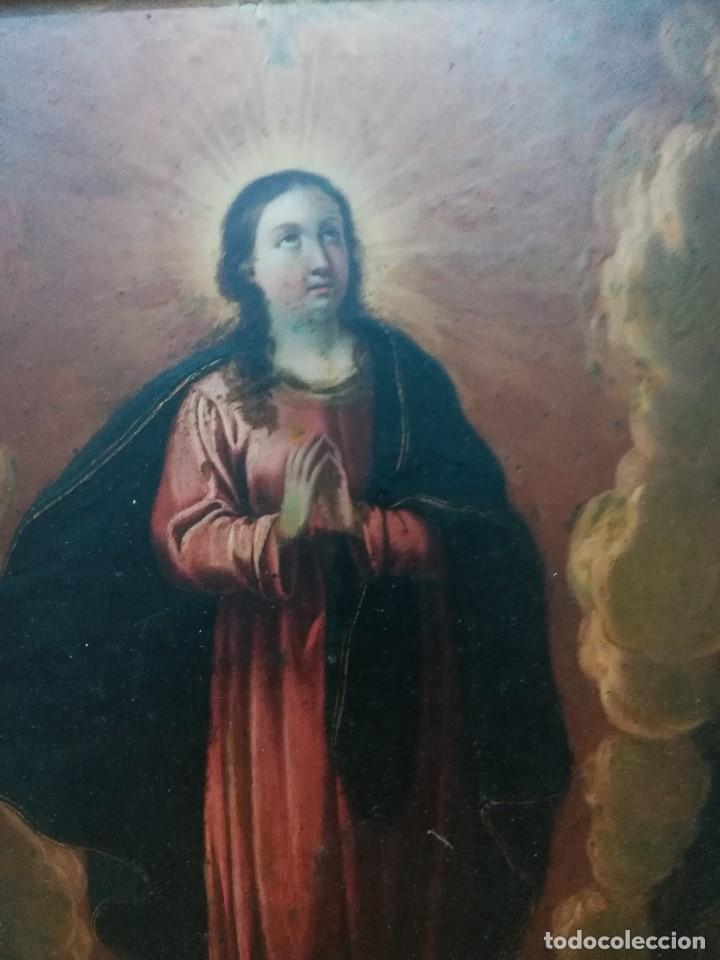 Arte: Virgen inmaculada de cobre - Foto 4 - 203991527