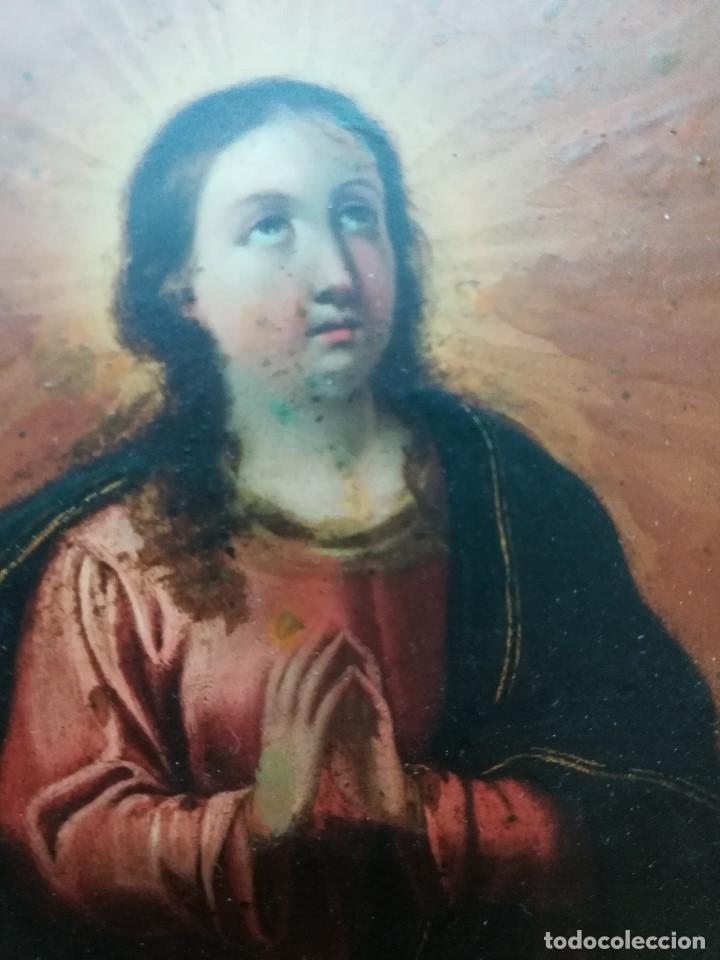 Arte: Virgen inmaculada de cobre - Foto 5 - 203991527