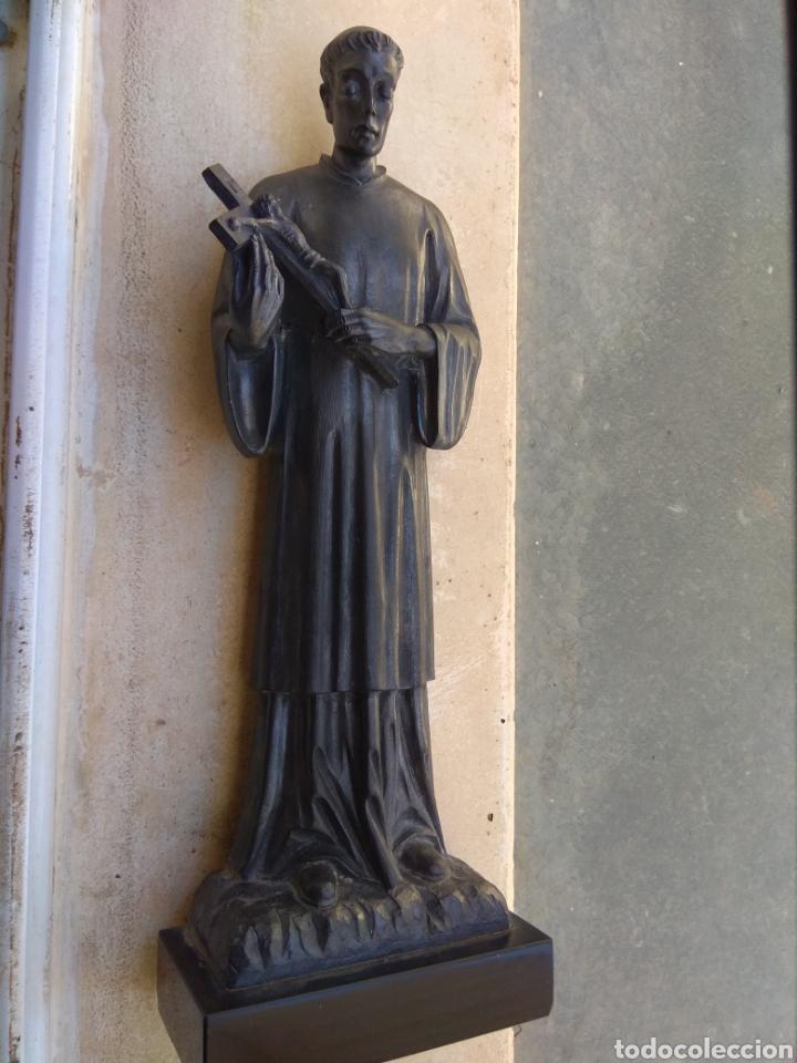 Arte: Bonita Escultura de Mármol de San Luis Gonzaga - - Foto 2 - 113484314