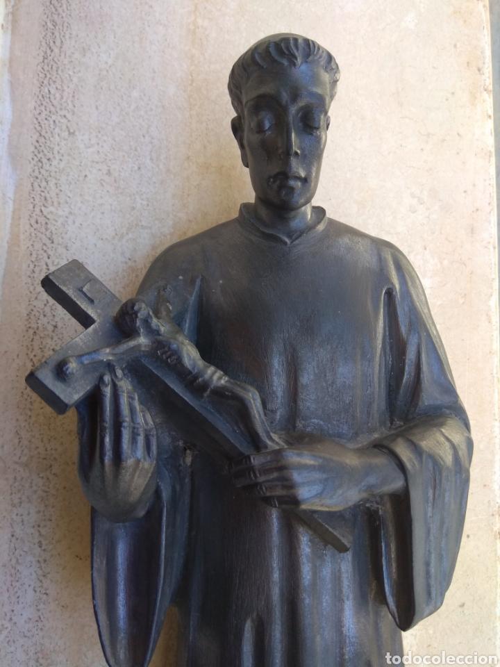 Arte: Bonita Escultura de Mármol de San Luis Gonzaga - - Foto 3 - 113484314