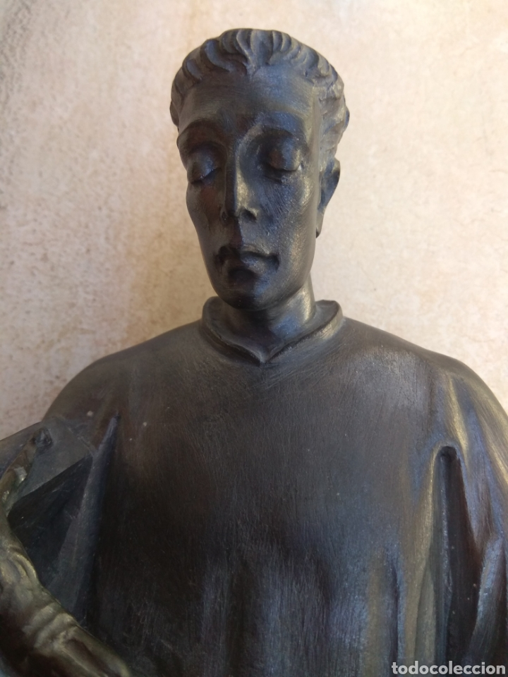 Arte: Bonita Escultura de Mármol de San Luis Gonzaga - - Foto 6 - 113484314