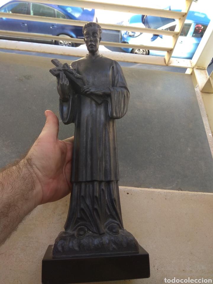 Arte: Bonita Escultura de Mármol de San Luis Gonzaga - - Foto 9 - 113484314