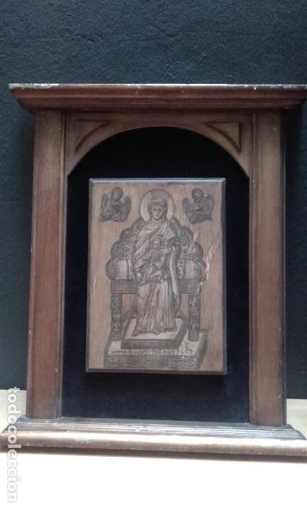 ICONO PINTANDO A MANO Y ENMARCADO (Arte - Arte Religioso - Iconos)