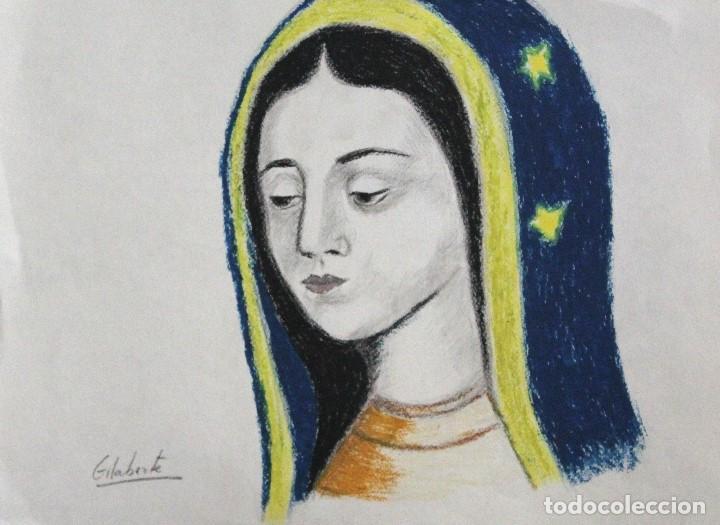 VIRGEN OBRA DE GILABERTE (Arte - Arte Religioso - Pintura Religiosa - Acuarela)