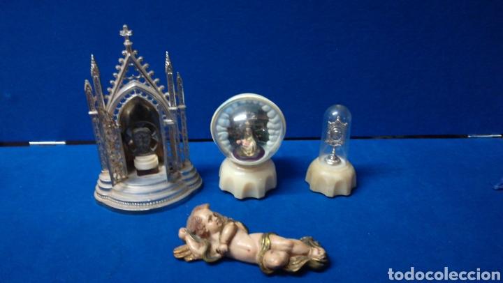 LOTE DE FIGURAS ICONOS RELIGIOSOS (Arte - Arte Religioso - Iconos)
