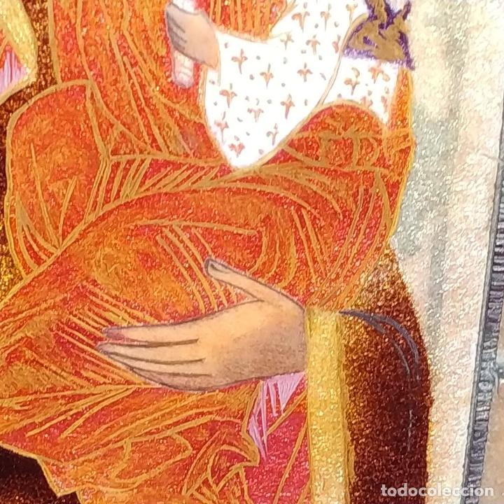 Arte: ICONO. VIRGEN CON NIÑO. ESMALTE TRASLÚCIDO. PLATA. CIRCULO DE MORATÓ. ESPAÑA. CIRCA 1950 - Foto 13 - 204268168
