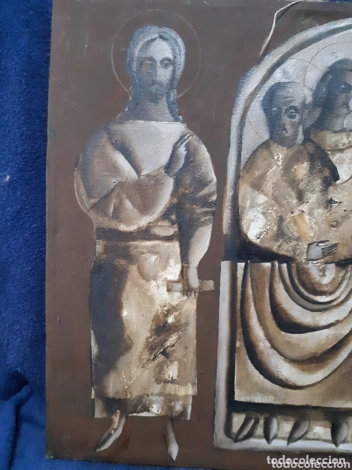 Arte: Obra de arte religioso, óleo sobre lienzo, firmada, autentificada y datada - Foto 2 - 204323416