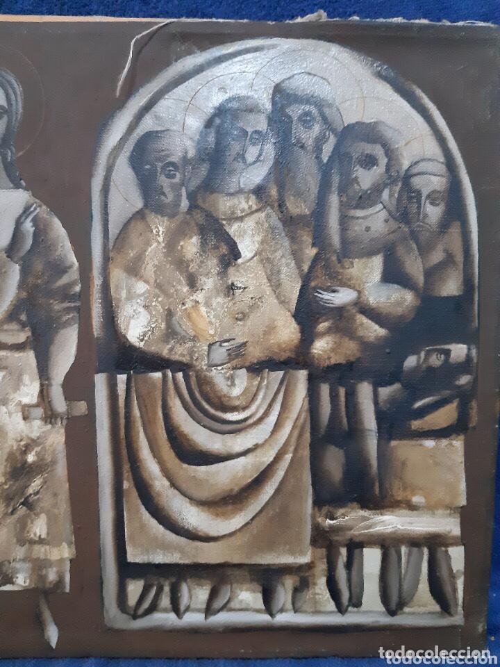 Arte: Obra de arte religioso, óleo sobre lienzo, firmada, autentificada y datada - Foto 3 - 204323416