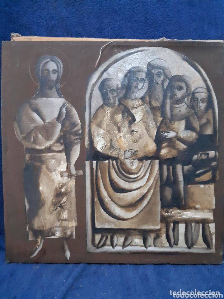 Arte: Obra de arte religioso, óleo sobre lienzo, firmada, autentificada y datada - Foto 5 - 204323416