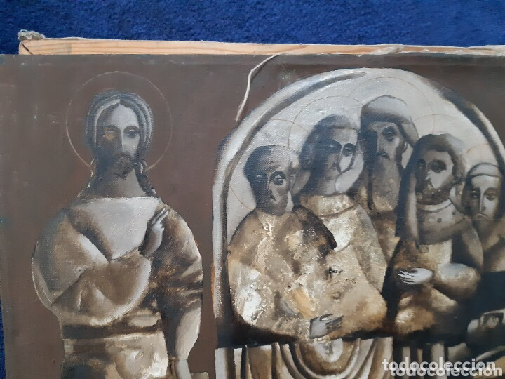 Arte: Obra de arte religioso, óleo sobre lienzo, firmada, autentificada y datada - Foto 6 - 204323416