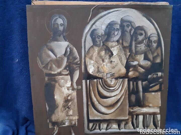 Arte: Obra de arte religioso, óleo sobre lienzo, firmada, autentificada y datada - Foto 8 - 204323416