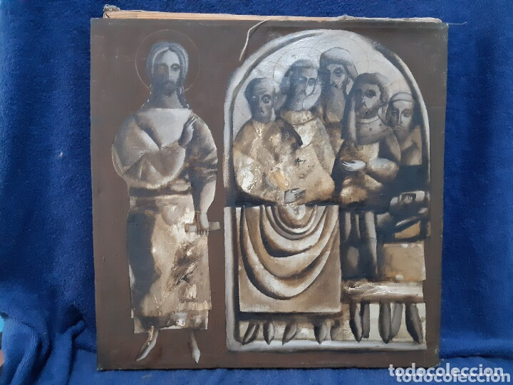 OBRA DE ARTE RELIGIOSO, ÓLEO SOBRE LIENZO, FIRMADA, AUTENTIFICADA Y DATADA (Arte - Arte Religioso - Pintura Religiosa - Oleo)