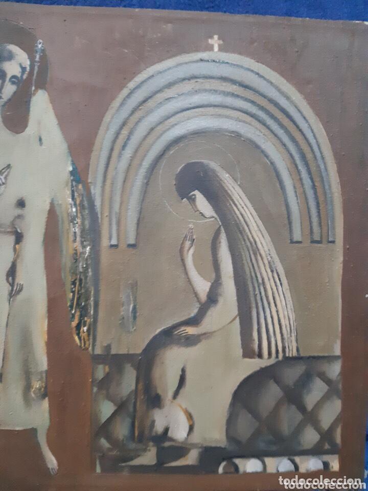 Arte: Obra de arte religioso, óleo sobre lienzo, firmada, autentificada y datada - Foto 3 - 204324162