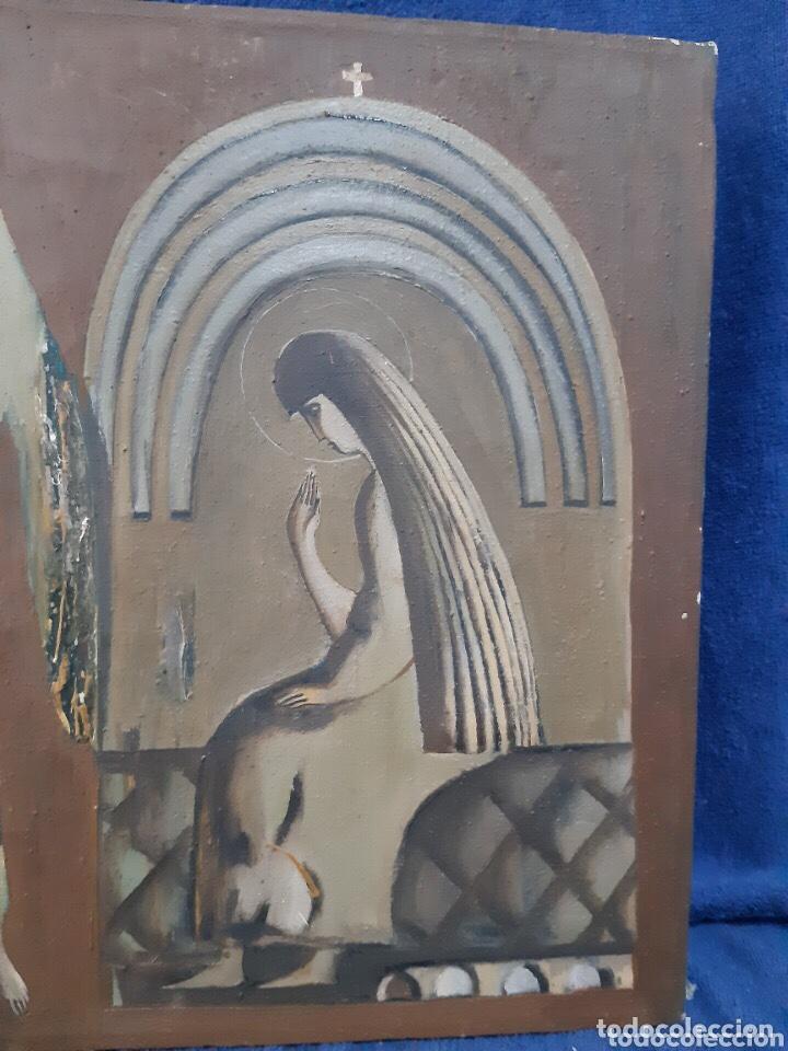 Arte: Obra de arte religioso, óleo sobre lienzo, firmada, autentificada y datada - Foto 4 - 204324162