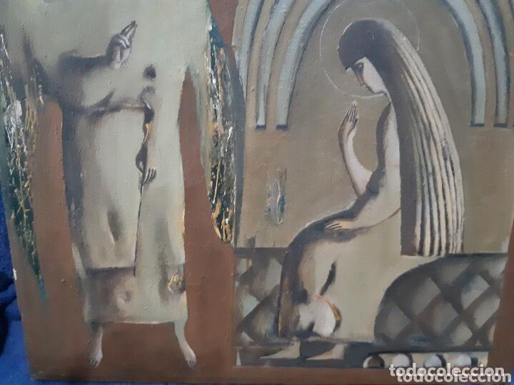 Arte: Obra de arte religioso, óleo sobre lienzo, firmada, autentificada y datada - Foto 6 - 204324162