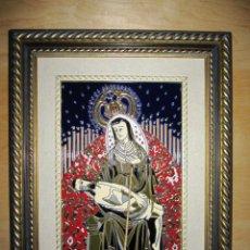 Arte: EXCEPCIONAL CERÁMICA ESMALTADA PINTADA A MANO VIRGEN SANTA MARÍA DE ÁFRICA. Lote 204382448