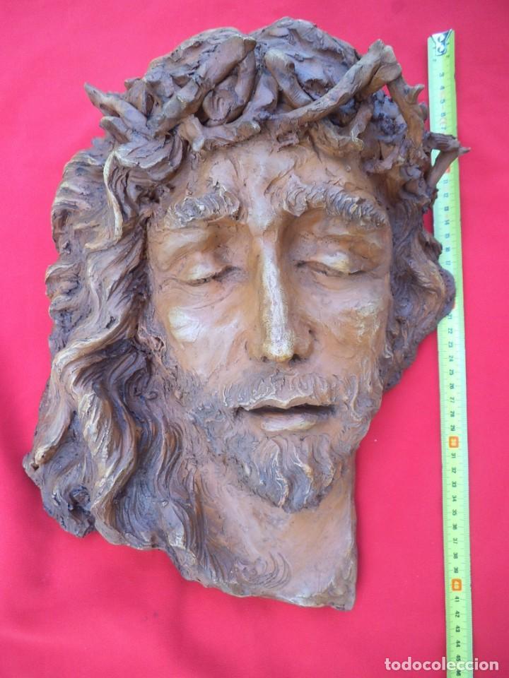 Arte: Cabeza de Cristo esculpida en terracota de escultor gaditano Nando, finales de los 80. - Foto 9 - 204416771