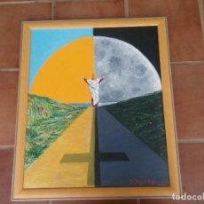 Arte: ÓLEO RELIGIOSO FIRMADO PELAEZ CABALLERO 1998. Lote 204419576