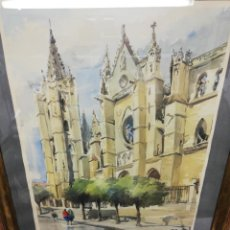 Arte: ACUARELA ENMARCADA. FIRMADA ESQUINA INFERIOR IZQUIERDO.. Lote 204606815