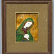 Arte: BONITA ESMALTE DE LA VIRGEN. FIRMADO. Lote 204612803