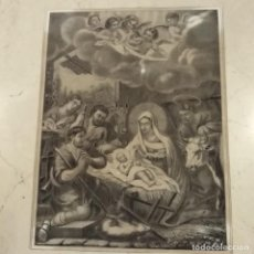 Arte: LA ADORACIÓN DE LOS PASTORES, SIGLO XIX, XILOGRAFIA. Lote 204629557