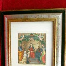 Arte: LA VIERGE SAINTHE CATHERINE DE SIENNE ET PLUSIEURS SAINTS DE FRA BARTOLOMEO 1870 CUADRO. Lote 204645780